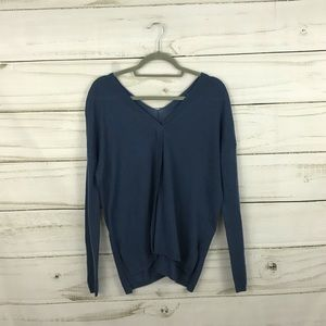 Vince Teal Blue V-Neck Sweater Top Size XS